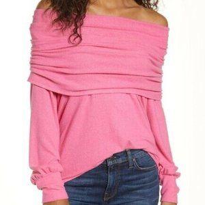 Gibson Cozy Fleece Convertible Neck Sweatshirt SM